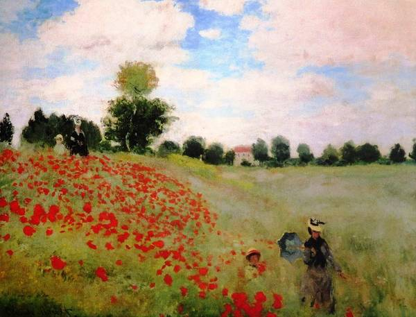 Painting - Poppy Field 1873 by Claude Monet - Joy of Life Art Gallery