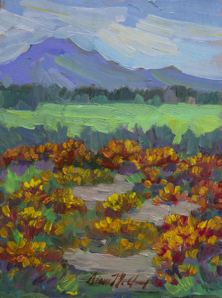 Wall Art - Painting - Poppy Field At Fort Apache Indian Reservation by Diane McClary