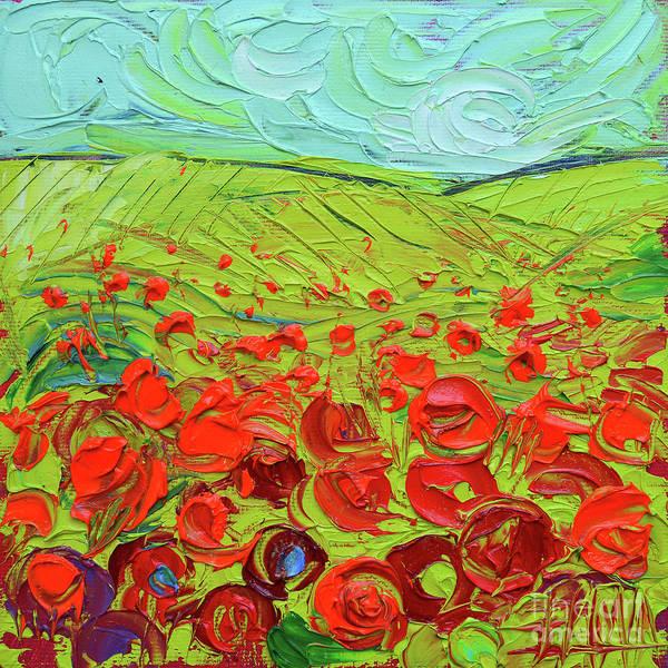 Wall Art - Painting - Poppy Field Etude by Mona Edulesco