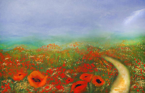 Poppy Field Impressions Art Print