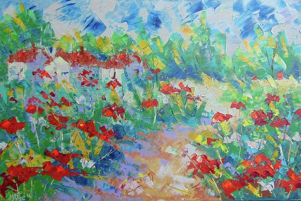 Painting - Poppy Filed France by Frederic Payet