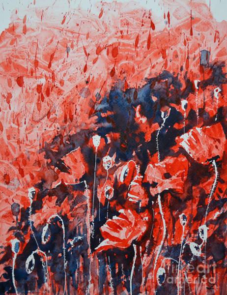 Painting - Poppy Fire by Zaira Dzhaubaeva