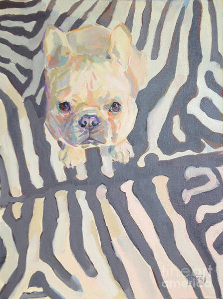 French Bulldog Painting - Poppy Gray by Kimberly Santini