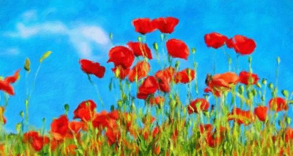 Lurksart Painting - Poppy - Id 16235-142758-4600 by S Lurk