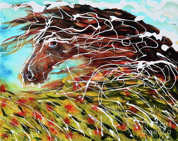 Painting - Poppy by Jonelle T McCoy
