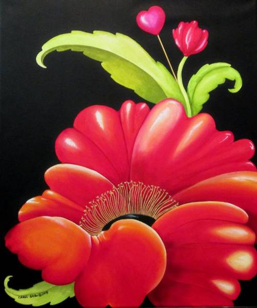 Wall Art - Painting - Poppy Love by Carol Sabo