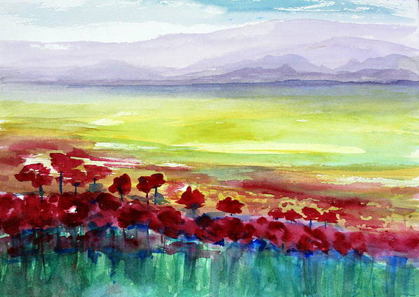 Poppie Painting - Poppy Meadow 2 by Julie Lueders