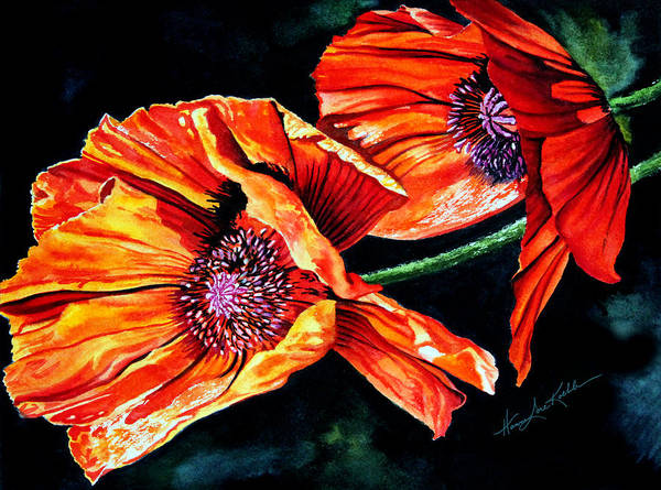 Wall Art - Painting - Poppy Passion by Hanne Lore Koehler