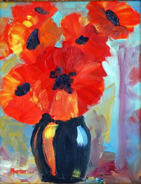 Painting - Poppy by Phil Burton