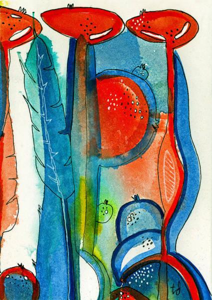 Poppy Pods 2 Art Print