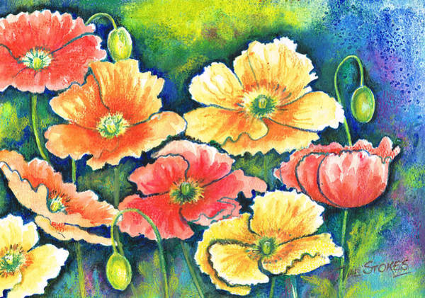 Painting - Poppy Profusion by Val Stokes