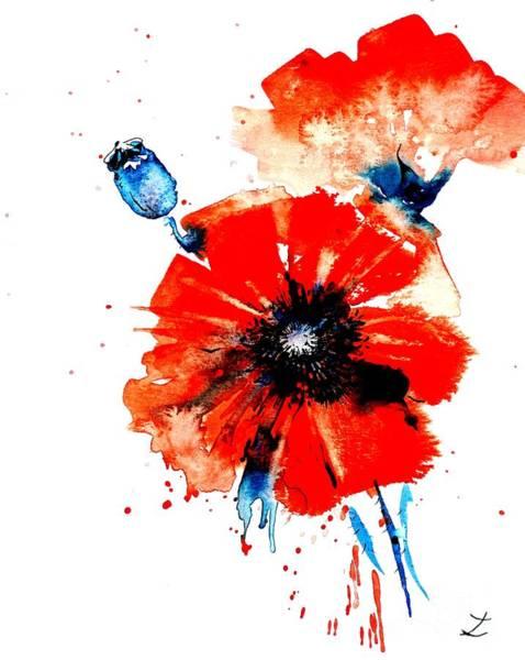 Painting - Poppy Red by Zaira Dzhaubaeva