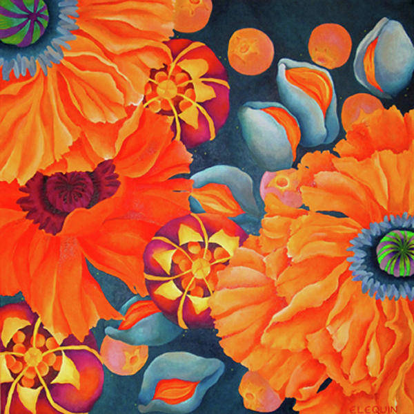 Wall Art - Painting - Poppy Seed by Elizabeth Elequin