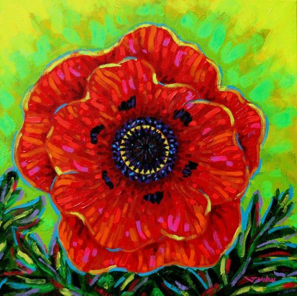 Wall Art - Painting - Poppy Solo by John  Nolan