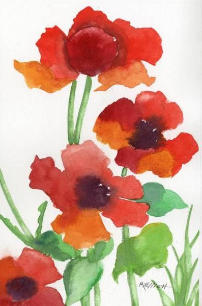 Perennial Painting - Poppy Study by Marsha Elliott