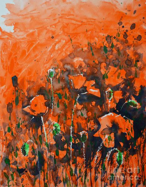 Painting - Poppy Sunset by Zaira Dzhaubaeva