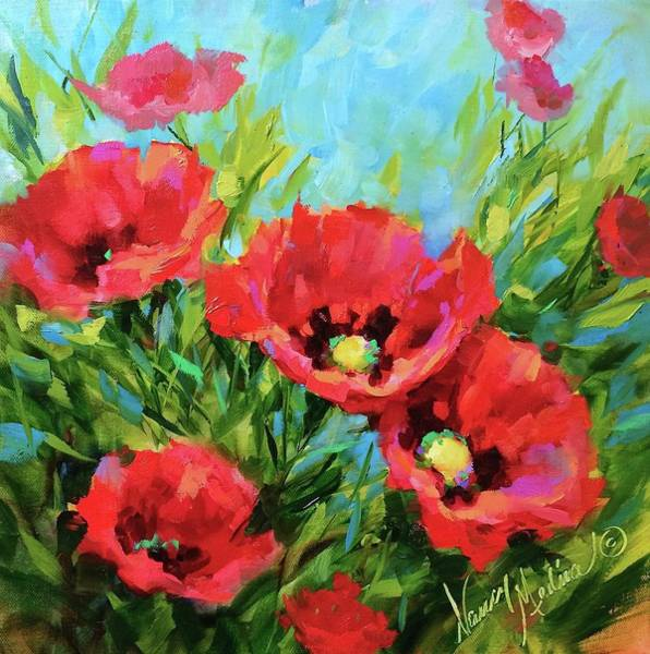 Medina Wall Art - Painting - Poppy Tango by Nancy Medina