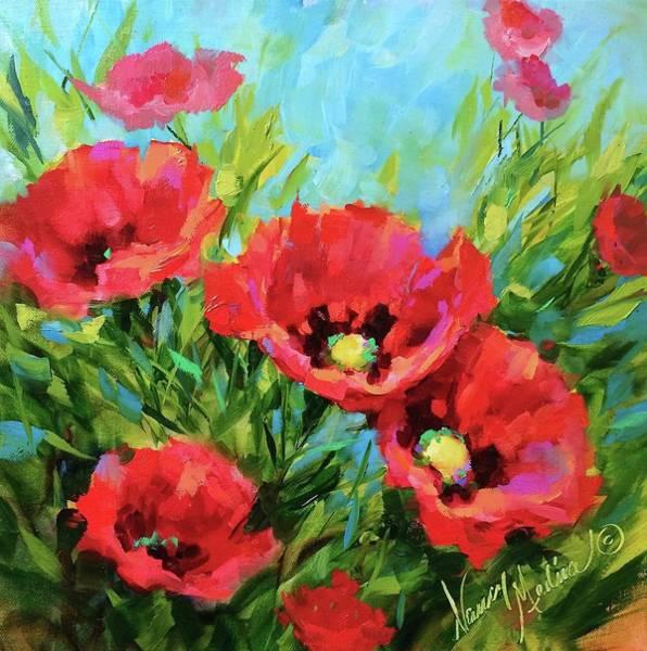 Hydrangea Wall Art - Painting - Poppy Tango by Nancy Medina