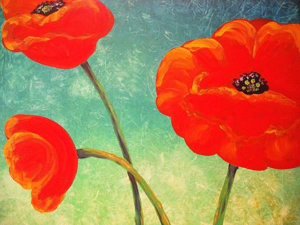 Wall Art - Painting - Poppy Trio by Jana Caissie
