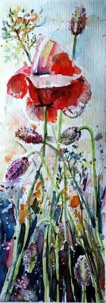 Wall Art - Painting - Poppy With Wild Flowers by Kovacs Anna Brigitta