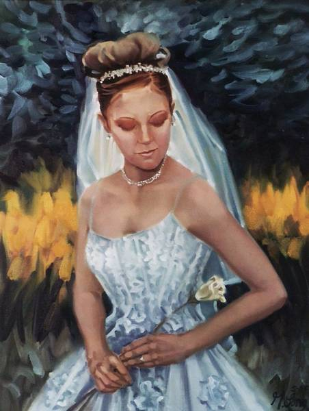 Painting - Portrait Of The Bride by Gary M Long