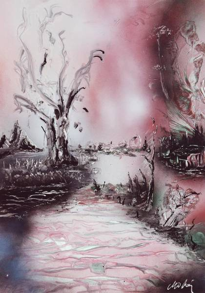 Strange Land Painting - Porcelain River by Nandor Molnar