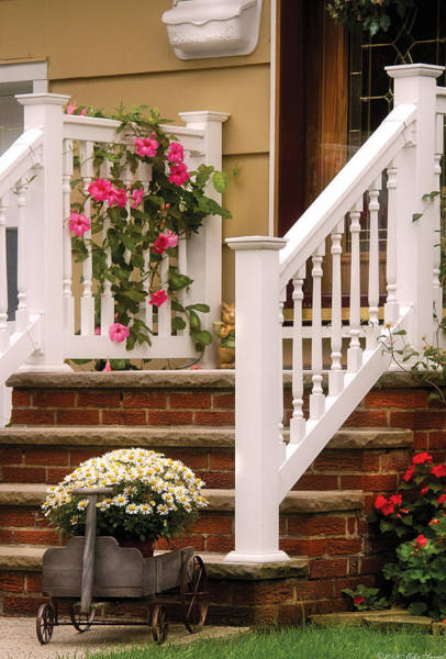 Photograph - Porch - Garwood Nj - Suburban Paradise by Mike Savad