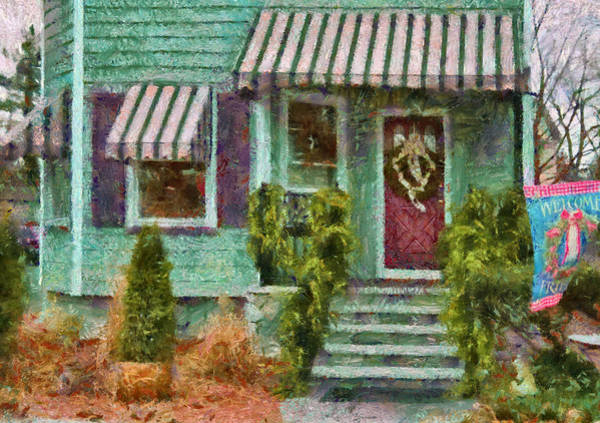 Photograph - Porch - Westfield Nj - Welcome Friends by Mike Savad