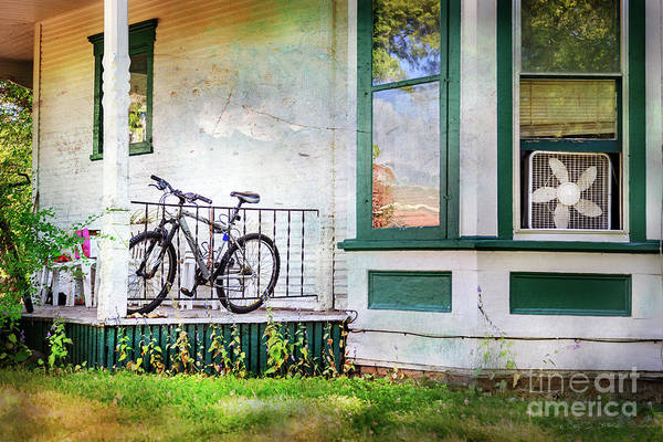 Photograph - Porch And Window Fan Bicycle by Craig J Satterlee