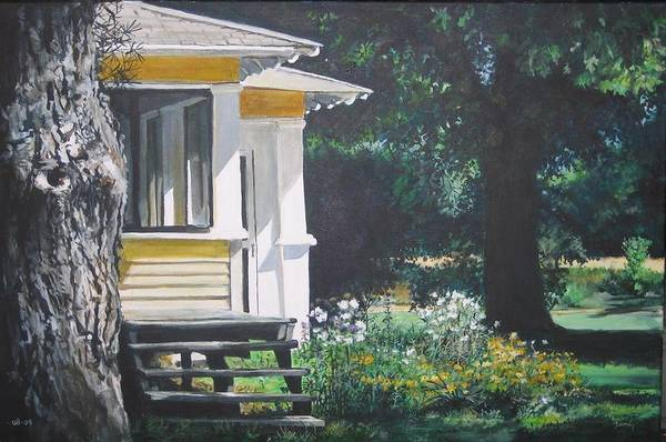 Painting - Porch By The Road by William Brody