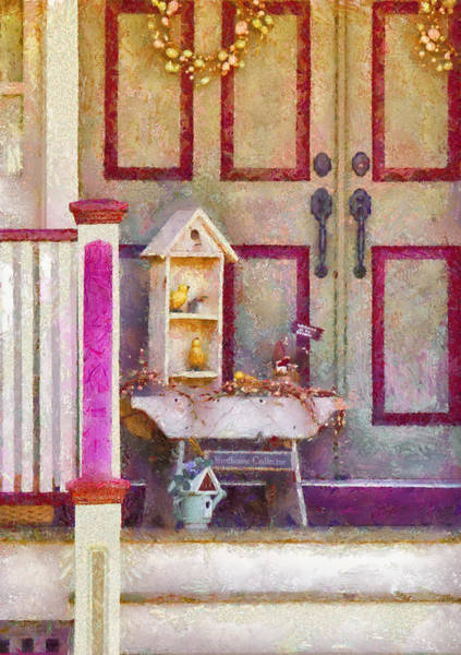 Photograph - Porch - Cranford Nj - The Birdhouse Collector by Mike Savad