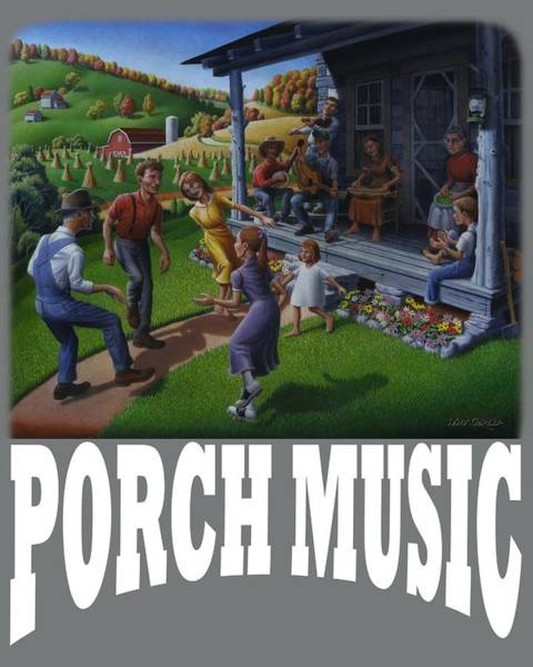 Porch Painting - Porch Music T Shirt 2 by Walt Curlee