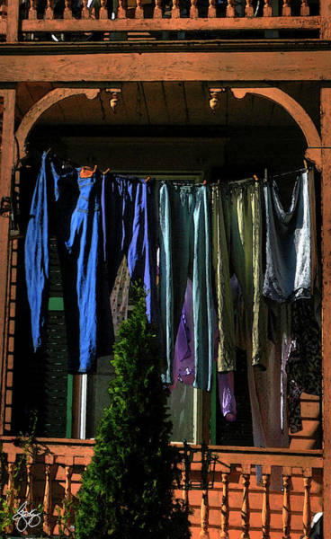 Photograph - Porch Washline by Wayne King