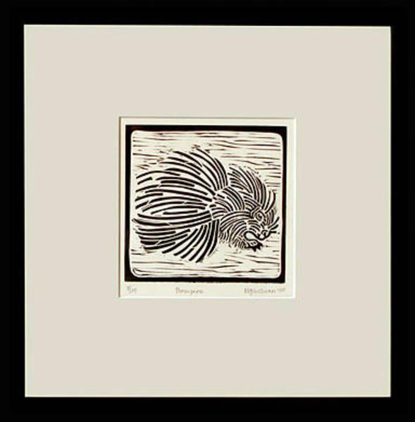 Linoleum Mixed Media - Porcupine by Melissa Sullivan