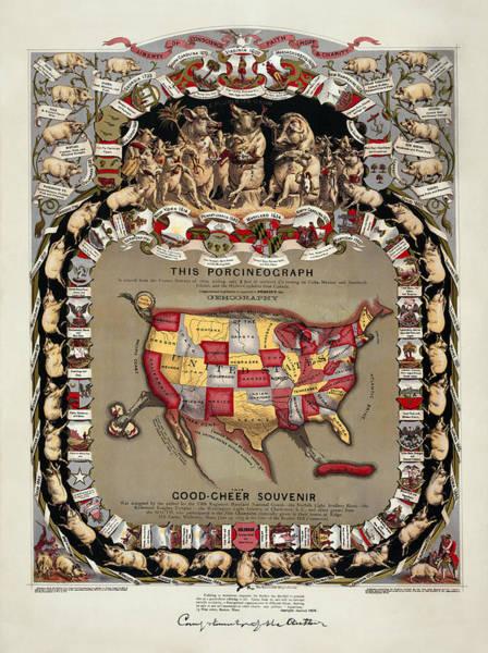 Wall Art - Photograph - Pork Lovers Gastronomique Panel 1875 by Daniel Hagerman