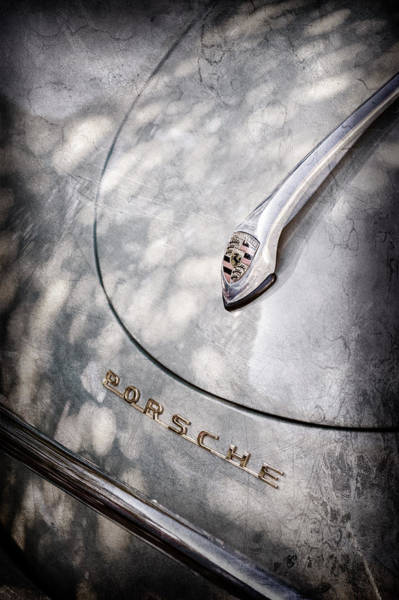 Wall Art - Photograph - Porsche 1600 Super Hood Emblem -0324ac by Jill Reger