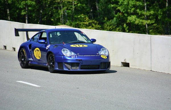 Whiskey Hill Wall Art - Photograph - Porsche 172 Entering Raceway by Mike Martin