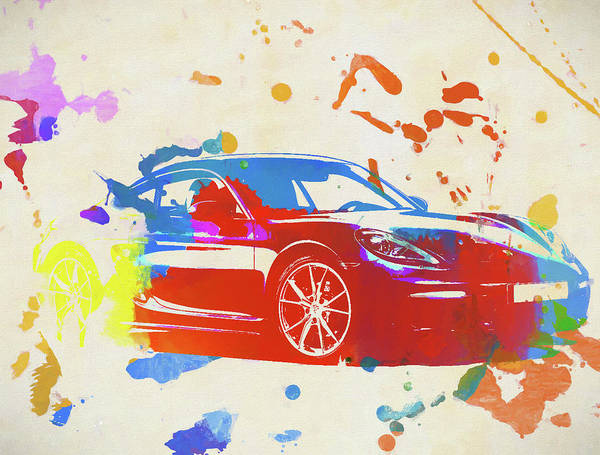 V8 Engine Wall Art - Painting - Porsche 718 Cayman by Dan Sproul