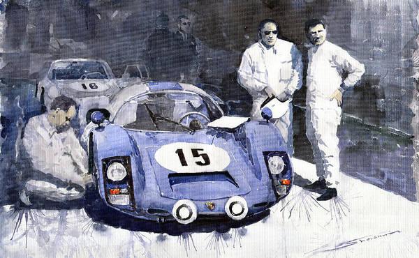 Motorsport Painting - Porsche 906 Daytona 1966 Herrmann-linge by Yuriy Shevchuk