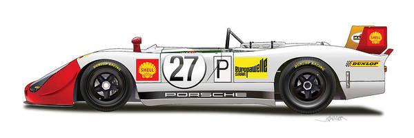 Wall Art - Digital Art - Porsche 908/02  by Alain Jamar