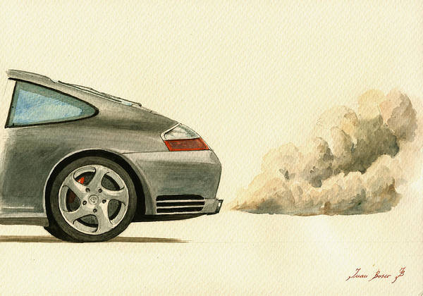 Wall Art - Painting - Porsche 911 996 4s by Juan  Bosco