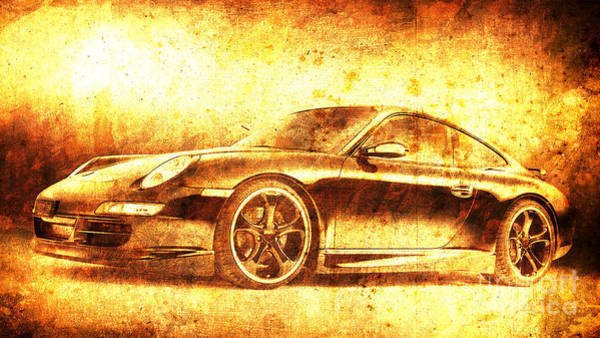 911 Painting - Porsche 911 by Drawspots Illustrations