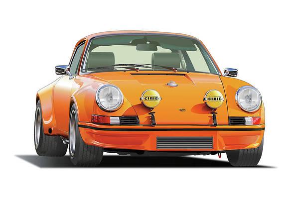 Wall Art - Drawing - Porsche 911 Rs by Alain Jamar