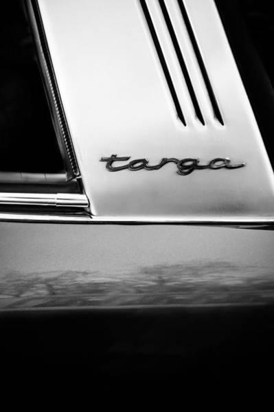 Wall Art - Photograph - Porsche 911 S Targa Emblem -ck0100bw by Jill Reger