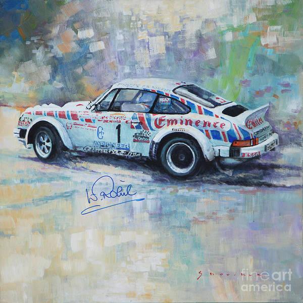 Wall Art - Painting - Porsche 911 Sc  Rallye Sanremo 1981 by Yuriy Shevchuk