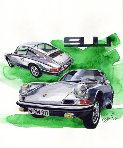 911 Painting - Porsche 911 Stainless Steel Body by Yoshiharu Miyakawa