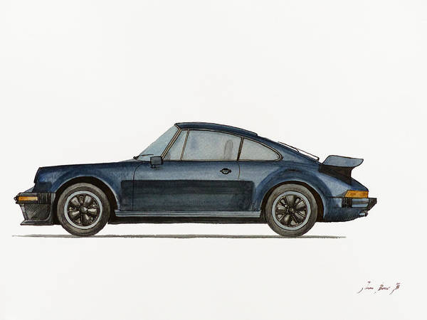 Wall Art - Painting - Porsche 911 Turbo 930 by Juan  Bosco