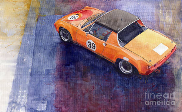 Watercolour Painting - Porsche 914 Gt by Yuriy Shevchuk