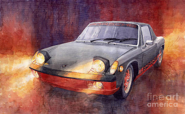 Auto Wall Art - Painting - 1970 Porsche 914 by Yuriy Shevchuk