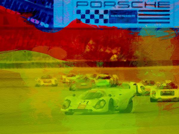 Porsche Wall Art - Painting - Porsche 917 Racing by Naxart Studio
